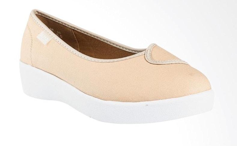 Sepatu Wakai 2TONE Nude Off White